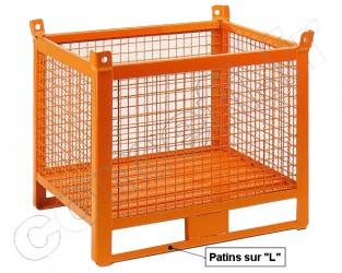 Conteneur grillagé 1000 Kg / 1200 x 800 H 650