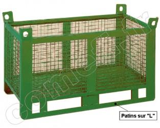 Conteneur grillagé 1500 Kg / 1500 x 800 H 650