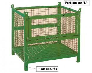 Conteneur grillagé 800 Kg / 1200 x 1000 H 650