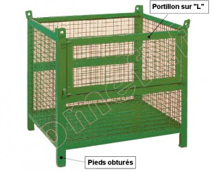 Conteneur grillagé 800 Kg / 1200 x 1000 H 1000