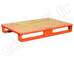 Palette tôle emboutie 1000Kg / 2 patins / 1200 x 1000