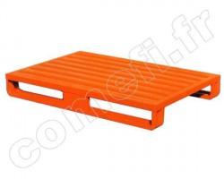Palette tôle tubulaire 1500Kg / 2 patins / 1000 x 800