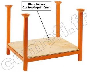 Palette à réhausses plancher bois