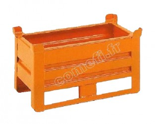Conteneur tôle 400Kg / 655 x 335 H 230