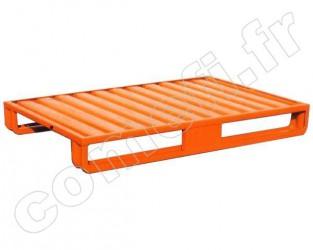 Palette tôle emboutie 1000Kg / 2 patins / 1200 x 800