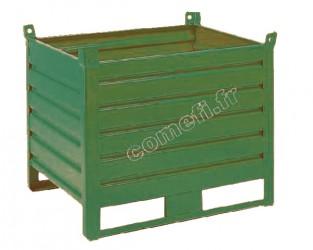 Conteneur tôle 1000 Kg / 1200 x 800 H 650