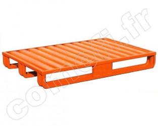 Palette tôle emboutie 1500Kg / 3 patins / 1000 x 800