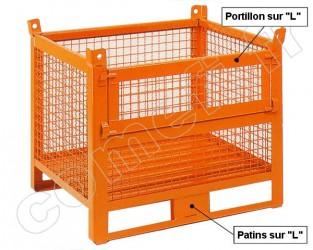 Conteneur grillagé 1000 Kg / 1000 x 800 H 800