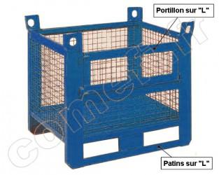 Conteneur grillagé 1500 Kg / 1000 x 800 H 650