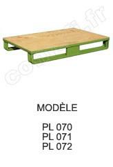 Palette métallique emboutie Charge 1500 kg / plancher bois