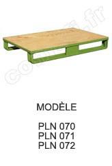 Palette métallique emboutie Charge 1000 kg / plancher bois