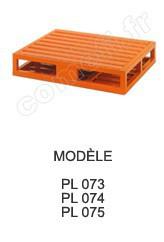 Palette métallique réversible Charge 2000 kg